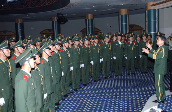 武警8730部队举办 红色经典爱国歌曲大家唱 活动图片