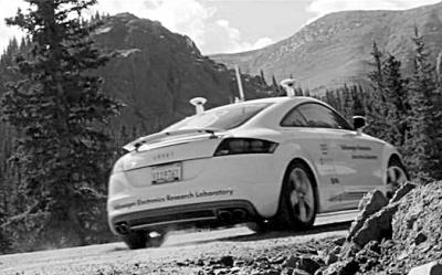 斯坦福大学的奥迪tt无人驾驶汽车高清图片
