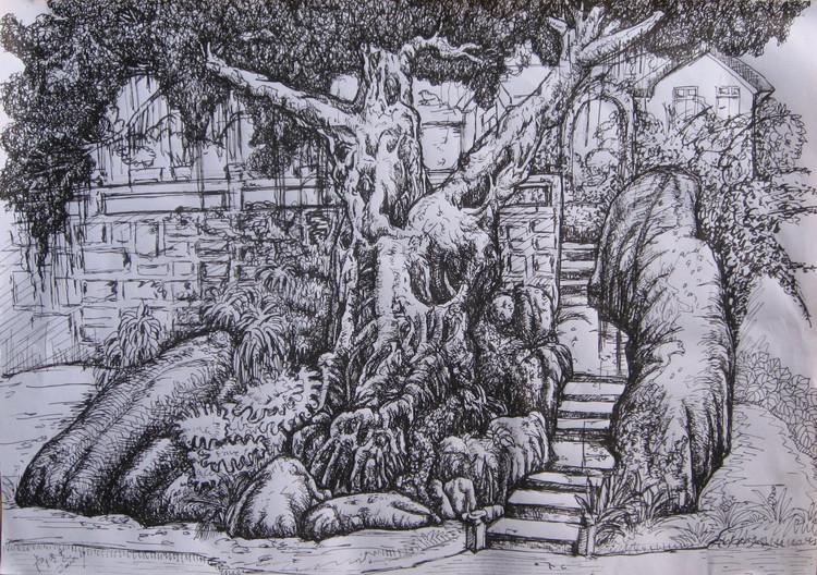 我是大民星:卢耀聪展示中国钢笔画艺术
