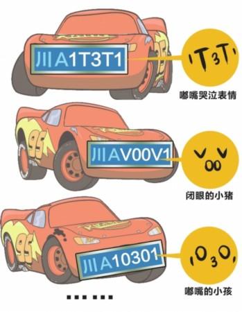 成都小型汽车号牌采用新编号方式高清图片