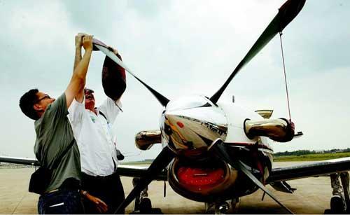 长沙男子驾私人飞机环游全球 穿越中国领空(图)