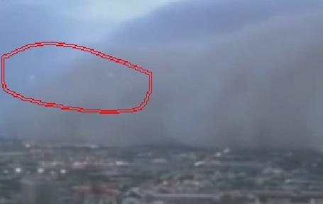 美国发现不明飞行物_美国凤凰城再现UFO 沙尘暴惊现不明飞行物(1)_南海网新闻中心