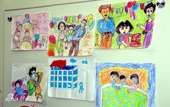 留守儿童留守儿童画关于留守儿童的画儿童家庭画作