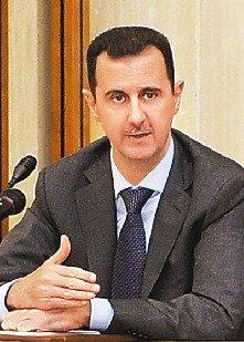 叙利亚总统巴沙尔-阿萨德.-美英法等国一致要求叙利亚总统阿萨德下台