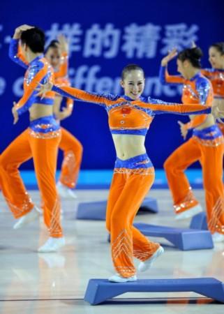 操_(大运会)(2)健美操——中国队获得有氧踏板冠军