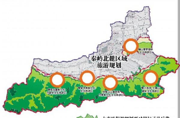 户县城区规划结构图