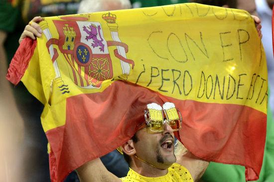 西班牙86 64斯洛维尼亚 疯狂的球迷