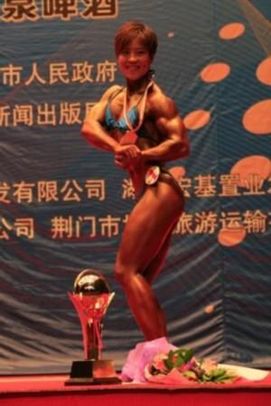 子全场冠军.(阿豪摄)-全国健美锦标赛荆门收官 辛健刘红霞赢得图片