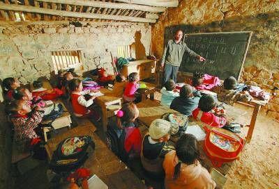 室给学龄前儿童上课