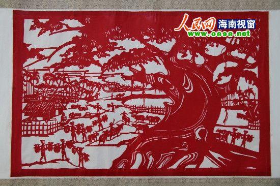 海南乐东黎族剪纸:薪火相传的民间艺术瑰宝图片