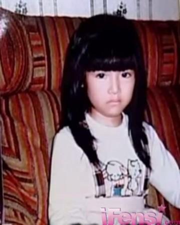 林心如小时候好可爱