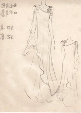 快女巡演服装设计手稿曝光 刘忻将挑战长裙