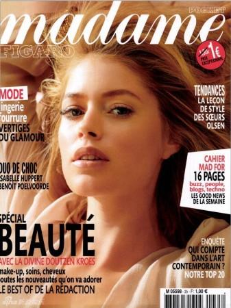荷兰超模杜晨 科洛斯登杂志封面性感优雅