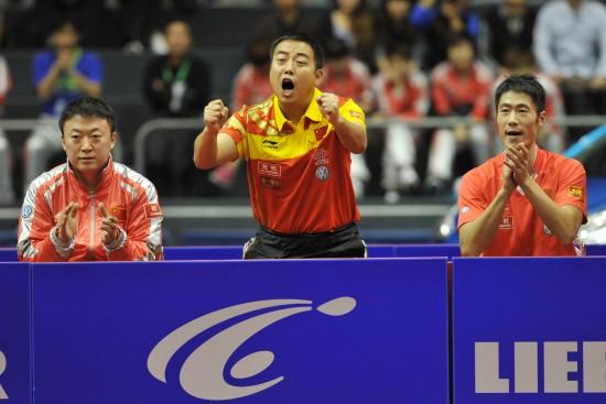 (体育)(2)乒乓球——世界杯团体赛:中国队夺冠-世界杯团体赛中
