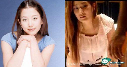 郑多彬 韩国/左侧是韩国女星郑多彬 右侧是第8部女主角轮廓很像,有木有。