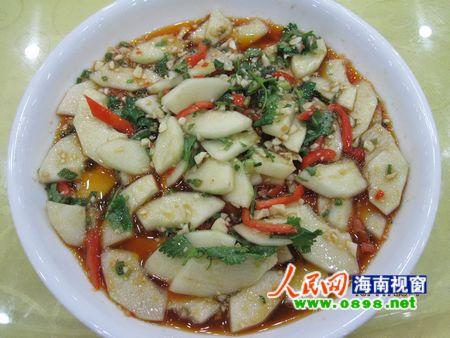 昌江美食新风味:哈密瓜可以炒着吃(组图)