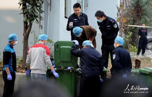一名捡垃圾的人员在小区垃圾桶发现女性尸块