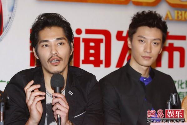 在上海首映,导演马俪文携主演蓝正龙(微博),乔任梁,韩彩英,黄龄前来