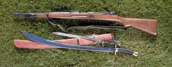 古董枪猎枪花纹图片