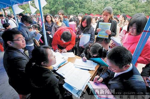 近五万名大学生参加广西年度最大双选会(图)图片