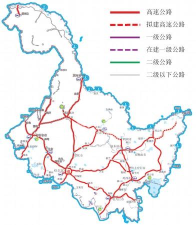 形成了以哈尔滨为中心,至大庆,齐齐哈尔,牡丹江,佳木斯等我省重要城市