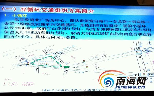 海口解决国贸区交通拥堵 将改造片区两个大循环高清图片