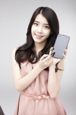 韩星iu代言手机拍写真 展清纯可爱魅力(附图)