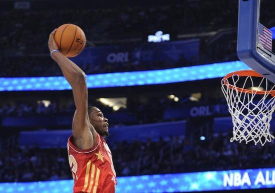 NBA全明星赛杜兰特加冕MVP图片