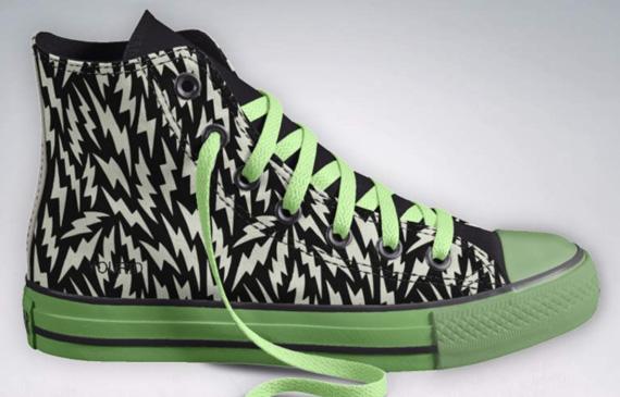 鞋子拥有夜光材质的鞋底