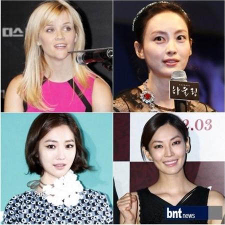 金素妍/顺时针方向:瑞茜/威瑟斯彭、李娜英、金素妍、高俊熙
