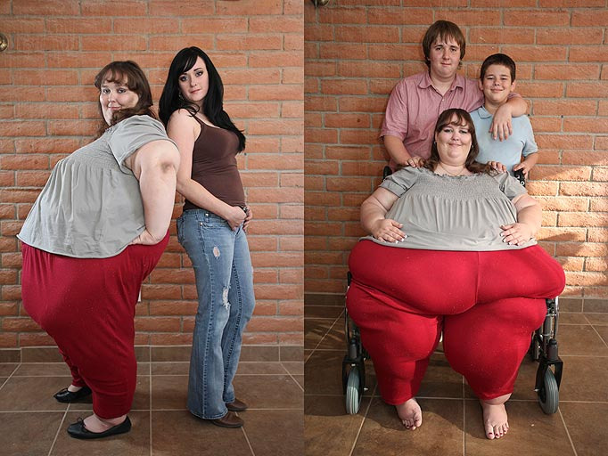 美国680斤女子欲做世界最胖女人图 南海网新