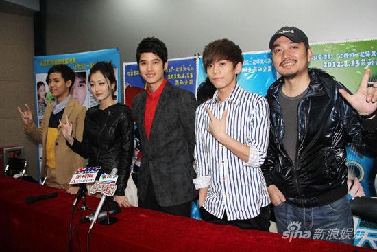 武艺(微博)、pchy、叶青莅临广州为影片宣传.马里奥-毛瑞尔和高清图片
