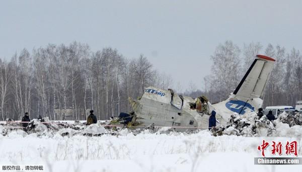 俄罗斯一架载有43人的飞机坠毁