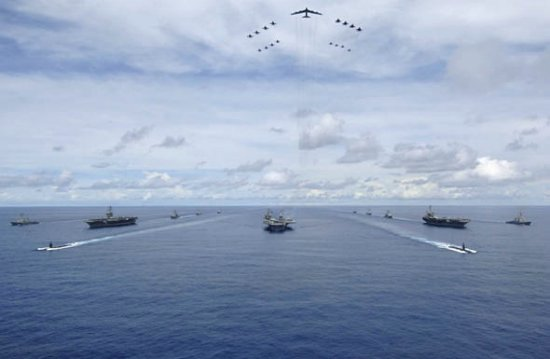 资料图:美国海军航母编队