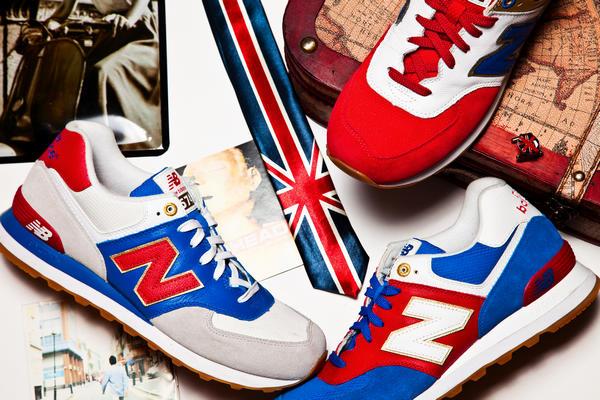 男士红色nb鞋子搭配