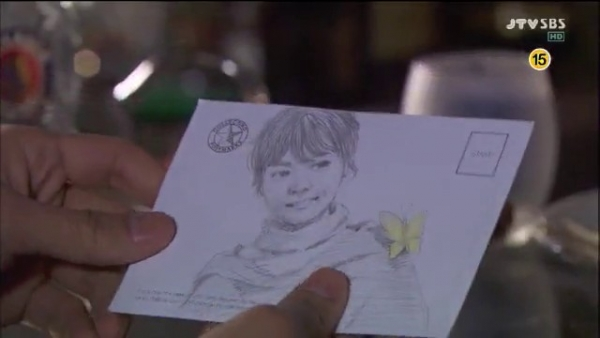 韩智敏 搞笑/男主角在街边为女主角画了幅素描,两幅图有些地方不太一样,...