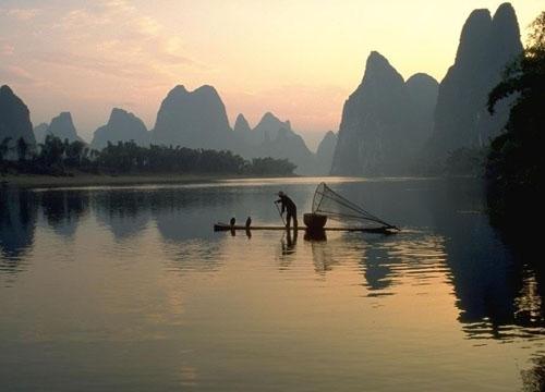 广西桂林山水水墨画