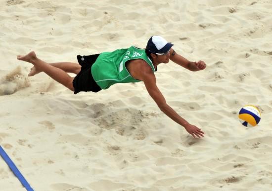 (体育)(4)沙滩排球——世界巡回赛北京大满贯:意大利选手获男