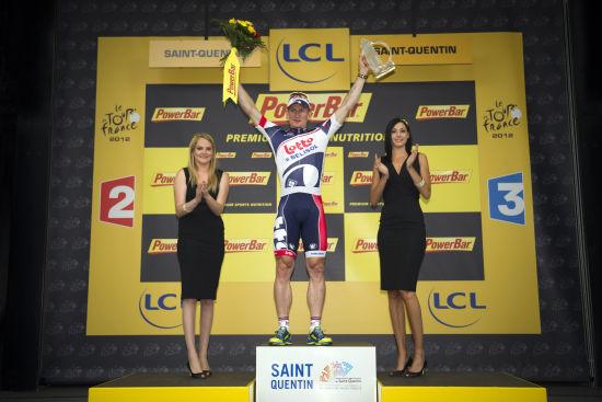...环法自行车赛第五赛段中,比利时乐透车队德国车手格雷佩尔获