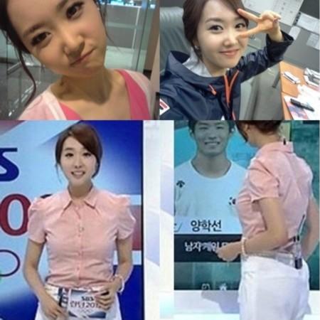 韩美女主持透明装春光乍泄 韩观众 比奥运精彩