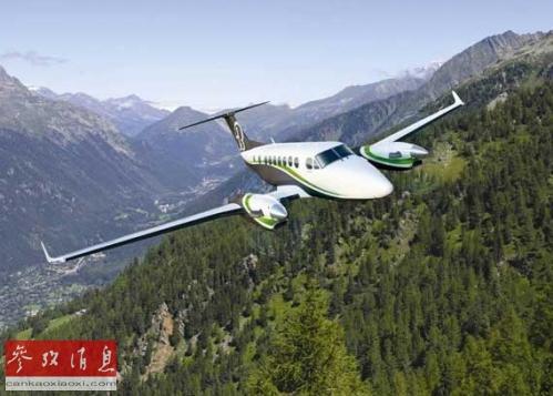 """""""空中国王350""""双引擎商用飞机(资料图片)"""