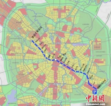 图为成都地铁2号线一期工程及20座车站示意.翻拍刘忠俊摄-成都地铁图片