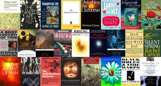 《新科学家》杂志网络版评出迄今为止最具影响力的10本科普图书,达尔文的《物种起源》和霍金的《时间简史》等上榜   北京时间10月3日早间消息,《新科学家》(New scientist)杂志网络版周一评出了迄今为止最具影响力的10本科普图书,达尔文的《物种起源》和霍金的《时间简史》等纷纷上榜。   半个世纪前,生物学家蕾切尔卡森(Rachel Carson)轰动了整个美国社会。1962年9月27日,她的图书《寂静的春天》(Silent Spring)出版了。该书首次揭露了农药残毒对食物链产生的破坏性危
