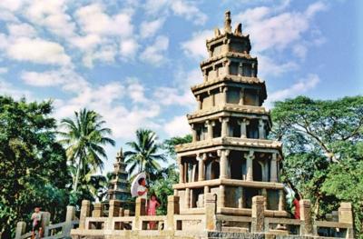"""澄迈 张靓丽/宋代古建筑——美榔姐妹塔是澄迈的""""招牌""""之一。"""