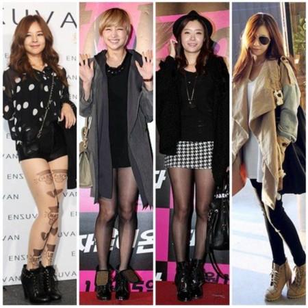 孙艺珍/从左至右:金素贞、郑妮可、柳善