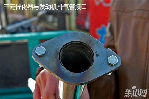 踏板摩托车工作原理_原厂消音器结构是一根管把尾气导入复杂的金属石棉减噪减高清图片