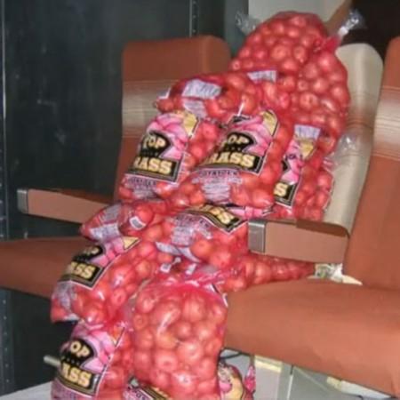 波音公司用麻袋装满了9000公斤的土豆摆放在飞机座位上