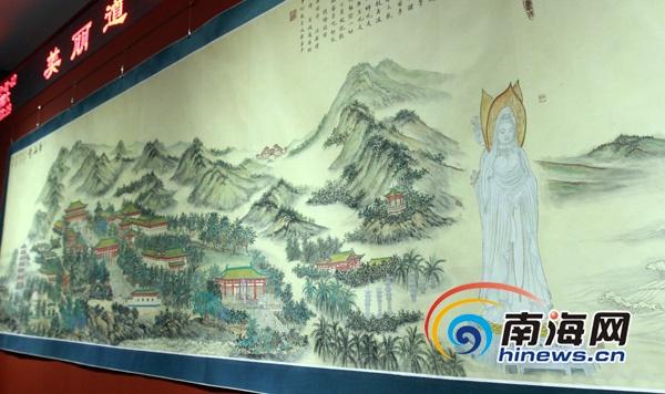 李家尧禅书禅画在海口开展 演绎 宫廷派 风格