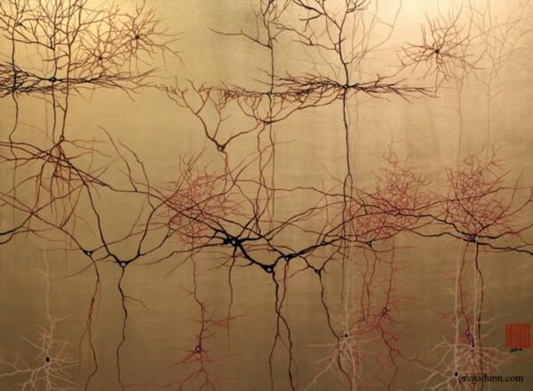 显微镜下的神经元艺术画:美感超越想象(图)