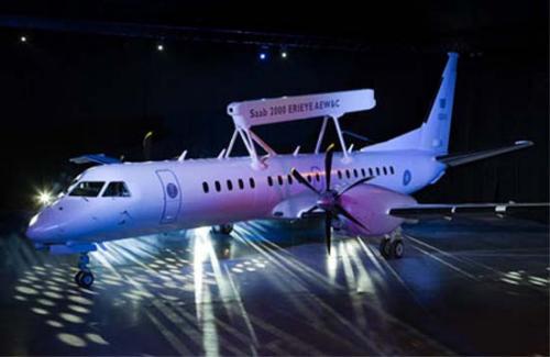 瑞典萨博公司签署萨博2000飞机监视系统合同 高清图片